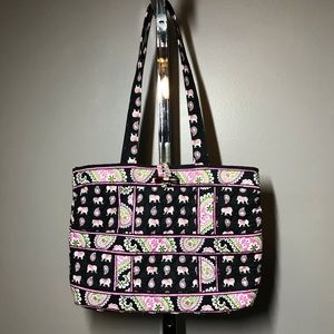 Vera Bradley Retired Toggle Pink Elephant Handbag